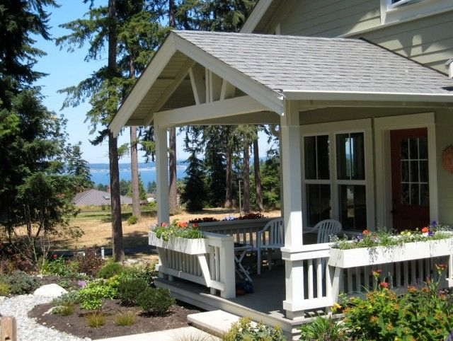 Gable Roof Front Porch Designs Open Gable Front Porch Home
