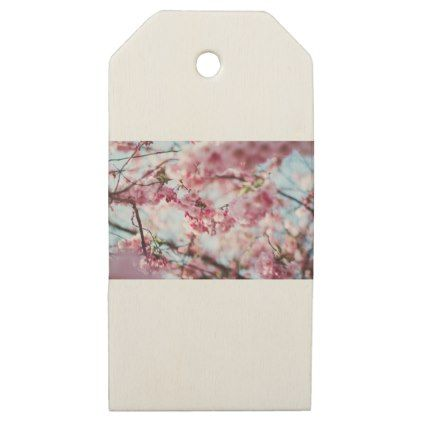 Cherry Blossom Tree Wooden Gift Tags Spring Gifts Beautiful Diy Spring Time New Year Flower Gift Gift Tags Cherry Blossom Tree