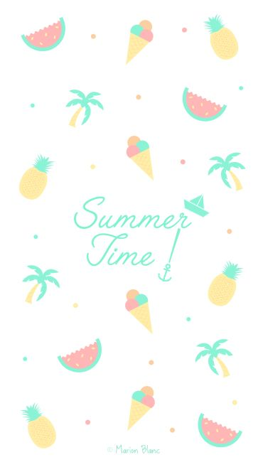 Marion White Illustrations Wallpapers For Your Mobile Cute Summer Wallpapers Summer Wallpaper Cute Wallpaper For Phone