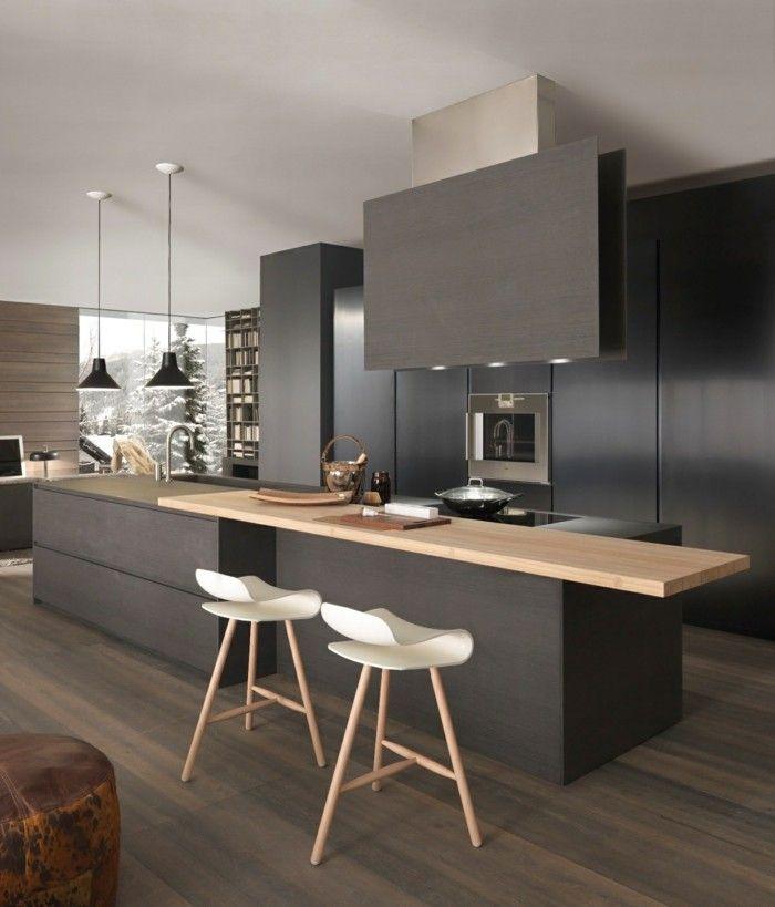 küchenschränke in schwarzer farbe Küche Möbel - Küchen - küche welche farbe