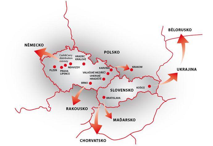Čeroz group - mapa