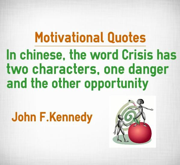Inspirational Quotes On Character: Motivational Quotes In Chinese, The Word Crisis Has Two