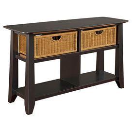 Owen Console Table In Black Broyhill Furniture Retro Sofa Cheap Leather Sofas Broyhill Furniture
