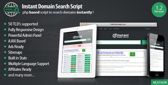 Instant Domain Search Script By Nexthon Admin Login Details Http Demo Nexthon Com Instantsearchdomain Admin Username Admi Script Search Engine Optimization