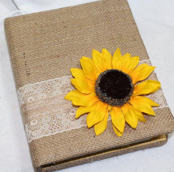 GIFT Recording Book  Sunflower Bridal Shower Sunflower by itsmyday