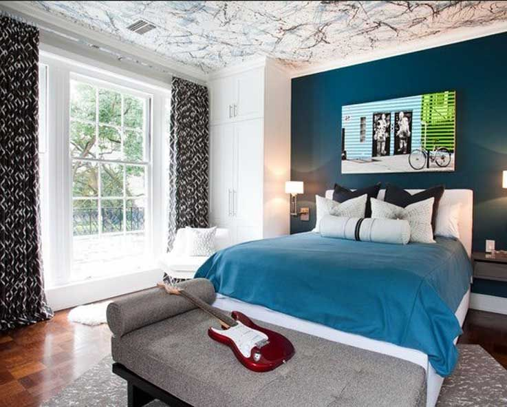 bedroom paint ideas for teen bedroom with ceiling art design combined