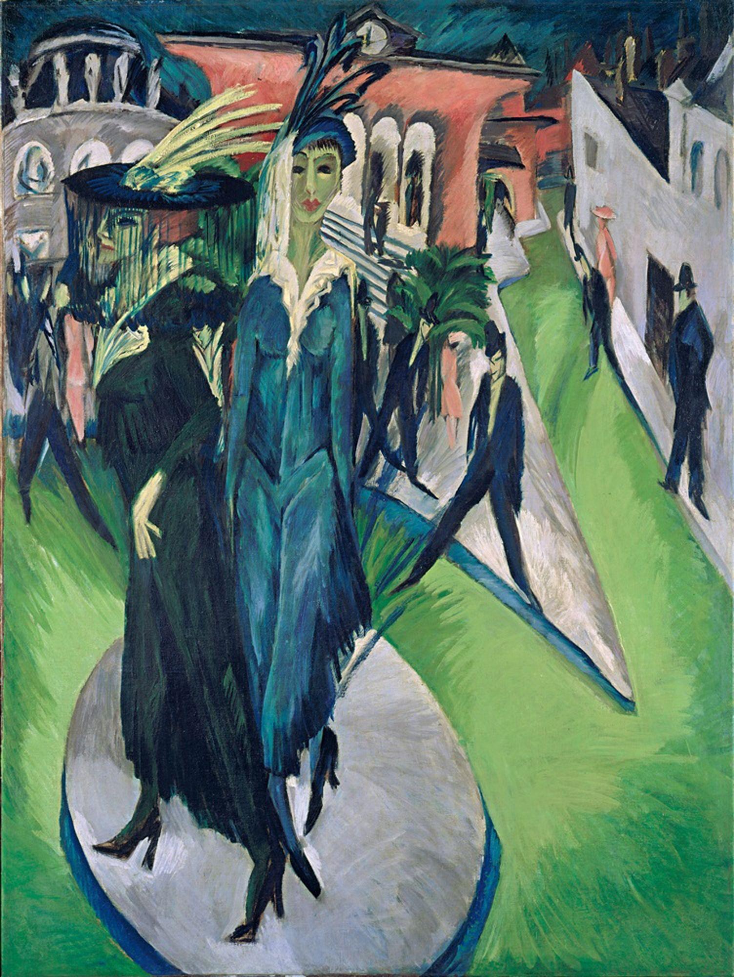 Ernst Ludwig Kirchner, Potsdamer Platz, 1914 (Berliner Straßenszenen ...