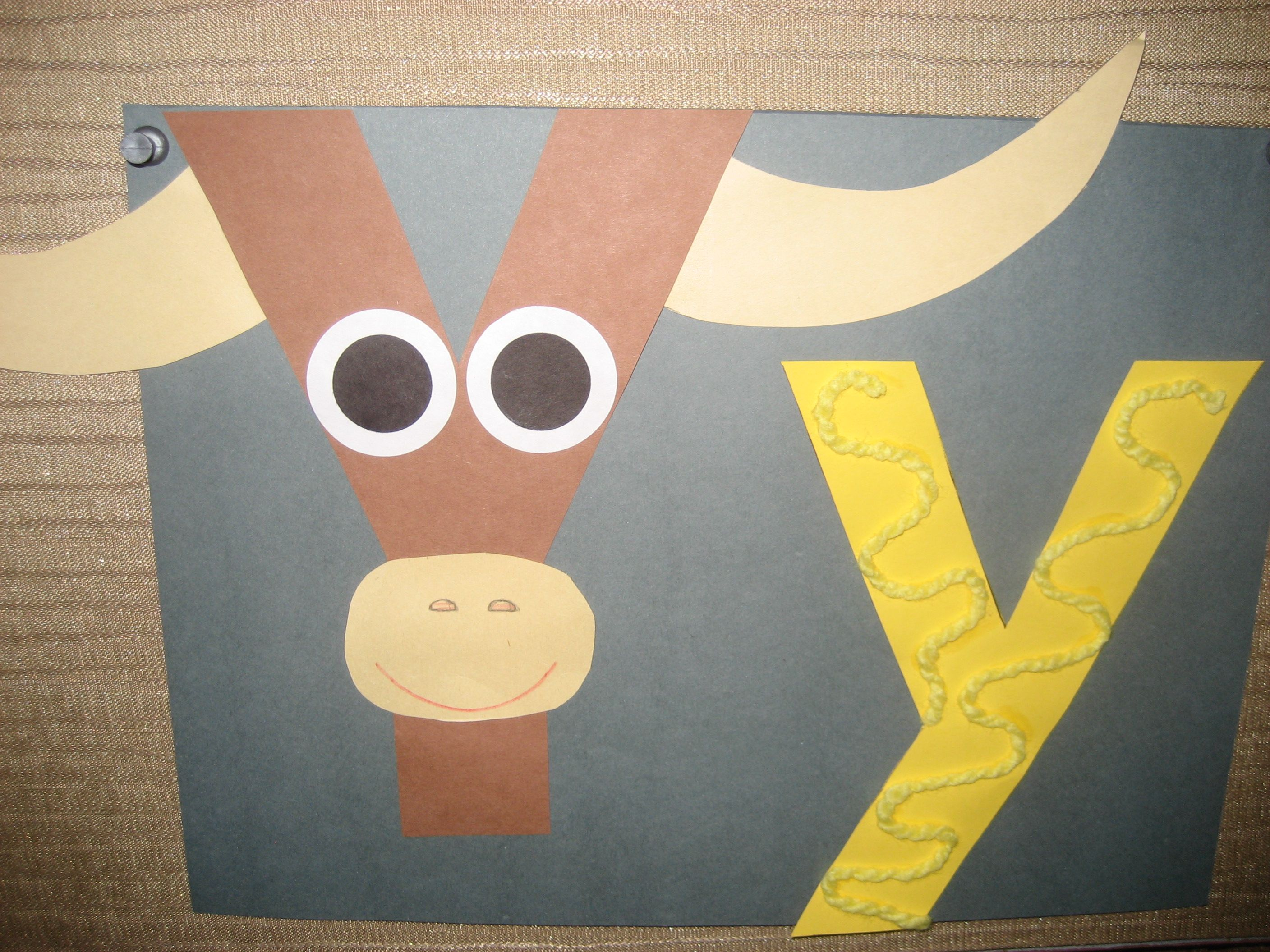 Yy Letter Of The Week Art Project Yak Amp Yellow