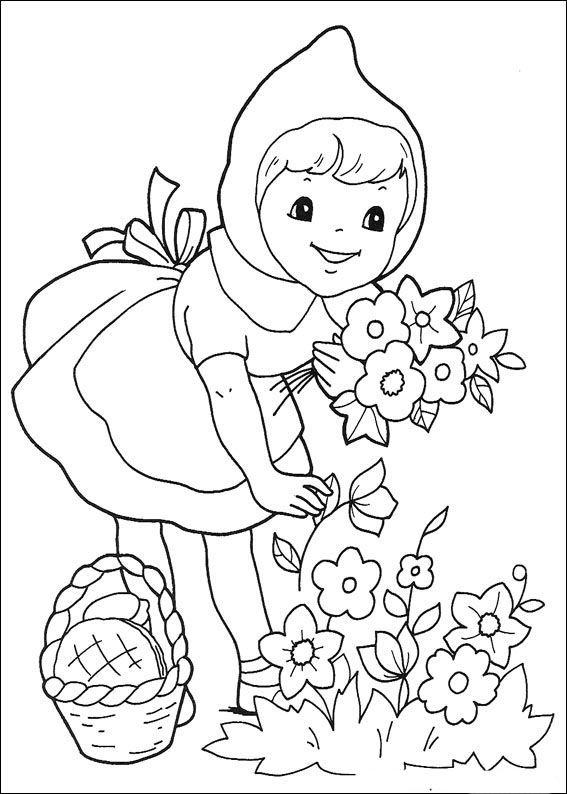 Rotkappchen1 Coloring Books Disney Coloring Pages Fairy Tales