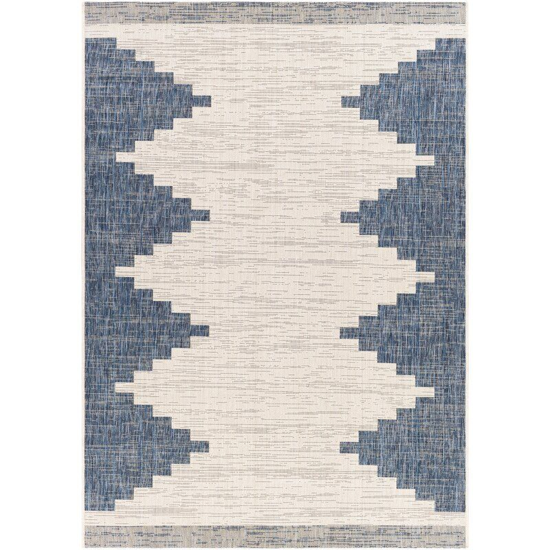 Foundry Select Kailyn Southwestern Bright Blue Beige Indoor Outdoor Area Rug Wayfair In 2020 Outdoor Rugs Modern Outdoor Decor Indoor Outdoor Rugs