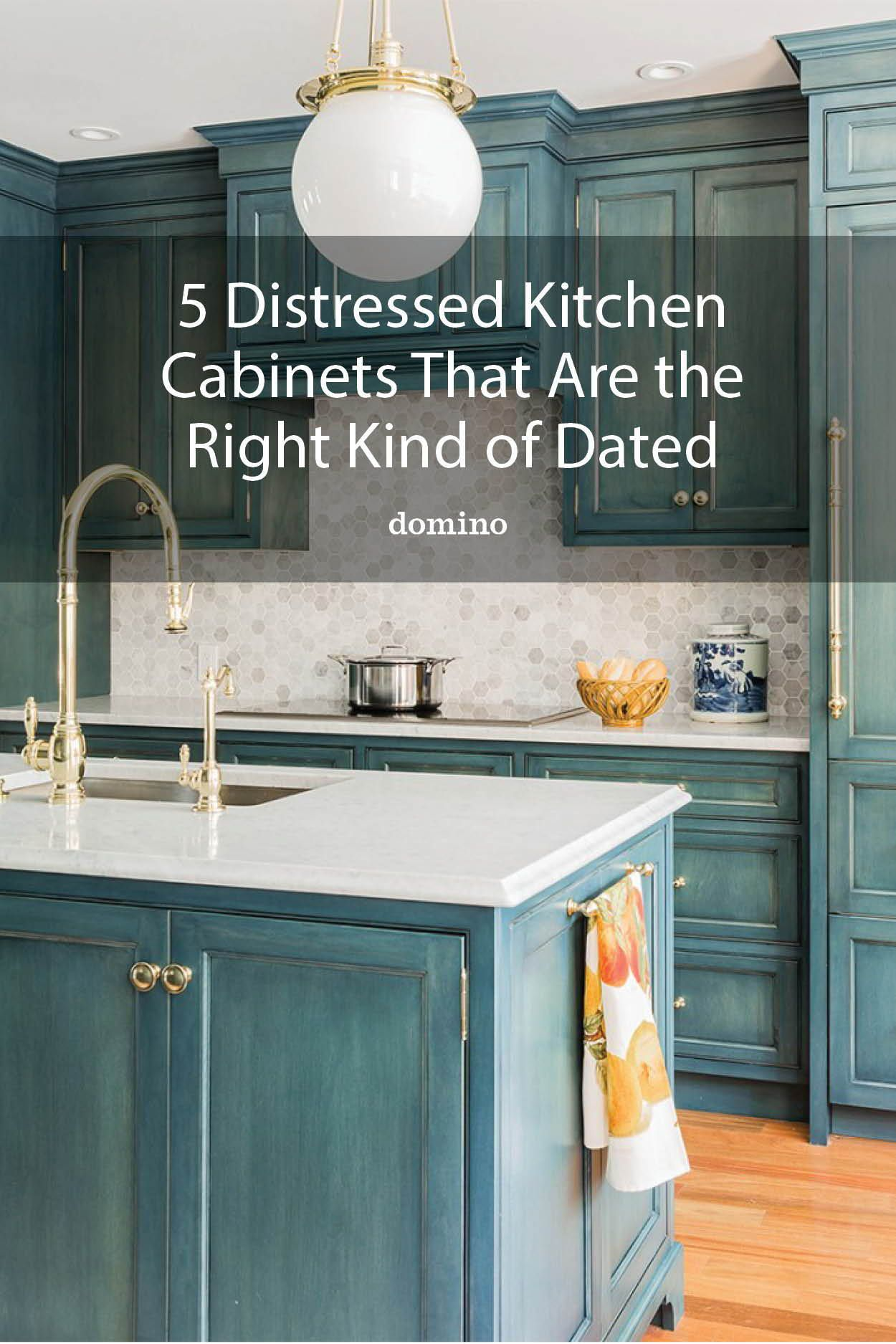 5 Distressed Kitchen Cabinets That Really Bring The Charm In 2020 Distressed Kitchen Distressed Kitchen Cabinets Kitchen Cabinets
