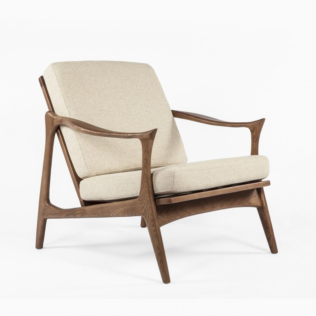 Mid Century Replica Mid Century Danish Model 711 Danish Lounge Chair Replica    Beige By Fredrik Kayser
