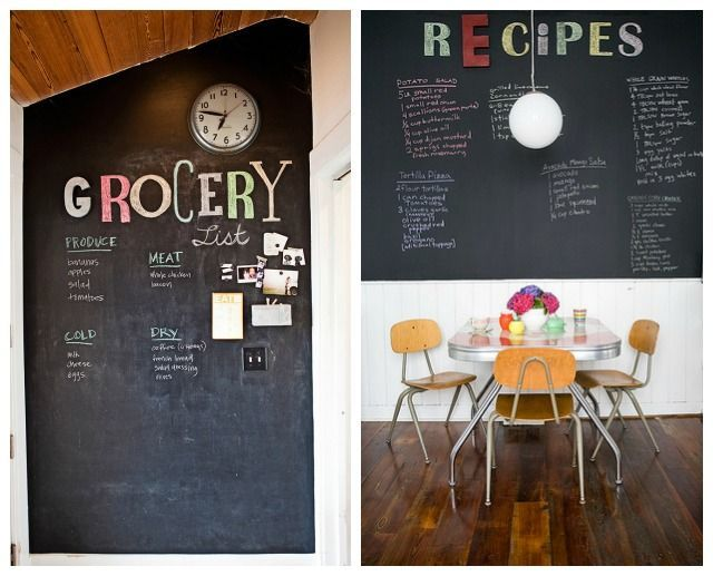 Chalboard In Dining Room And Kitchen Its OkayChalk ArtChalkboard