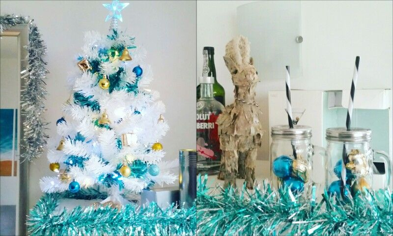 Xmas Tree and Reindeer by Paperchase. Tinsel by Primark Home.