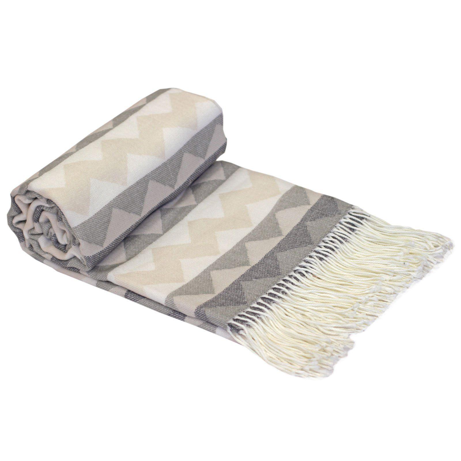 cream sofa throws uk muuto pink just contempo single aztec tribal woven fringe throw over