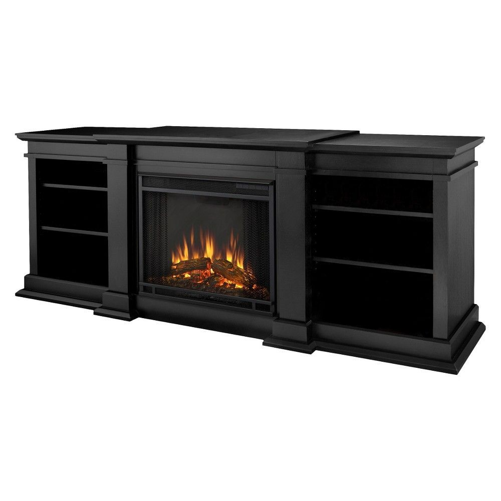 Real flame fresno enterntainment electric fireplaceblack black