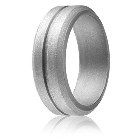 Amazon Com Roq Silicone Wedding Ring For Men Affordable 8mm Silicone Rubber Wedding Bands 4 P Silicone Wedding Rings Mens Wedding Rings Rubber Wedding Band