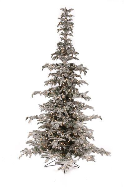 7.5' Flocked Noble Prelit Artificial Christmas Tree   Winter ...