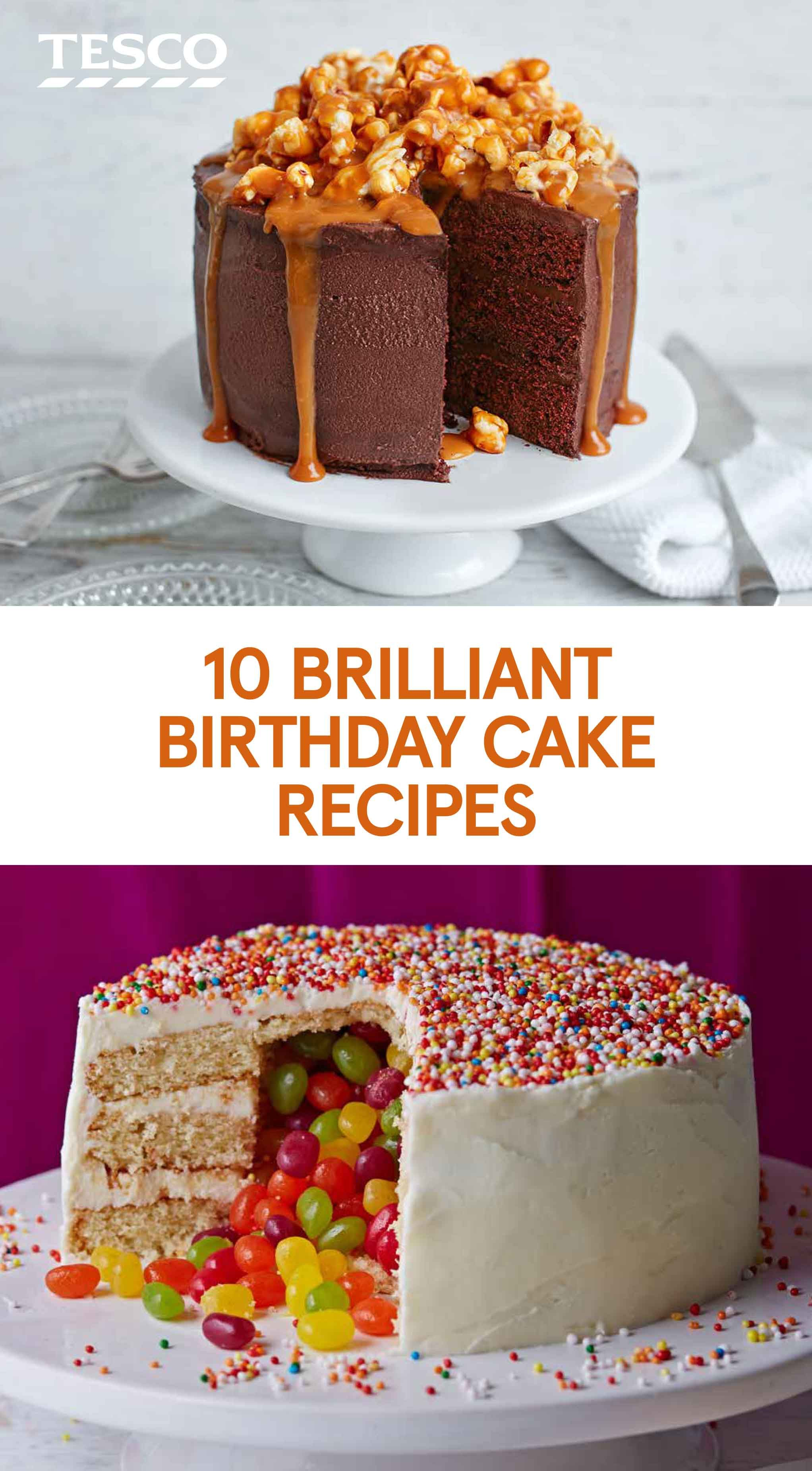 10 Brilliant Birthday Cake Recipes Me Food Pinterest