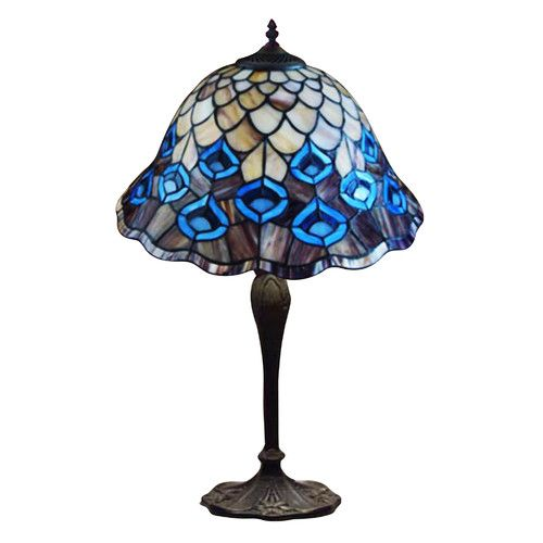 Buy Online Peacock Feather Tiffany Table Lamp Constance