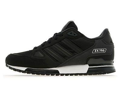 4f15dcb7e16d9 Adidas ZX 750 Black  Dark Shale Trainers