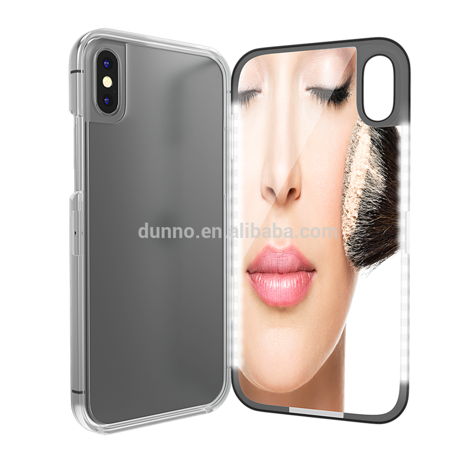 newest 88be0 18469 Factory Wholesale LED Selfie Light MakeUp Mirror Phone Case for ...
