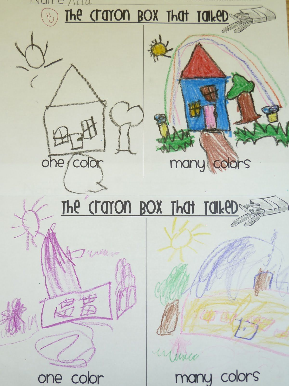 The Crayon Box That Talked Mple Activity For Preschool