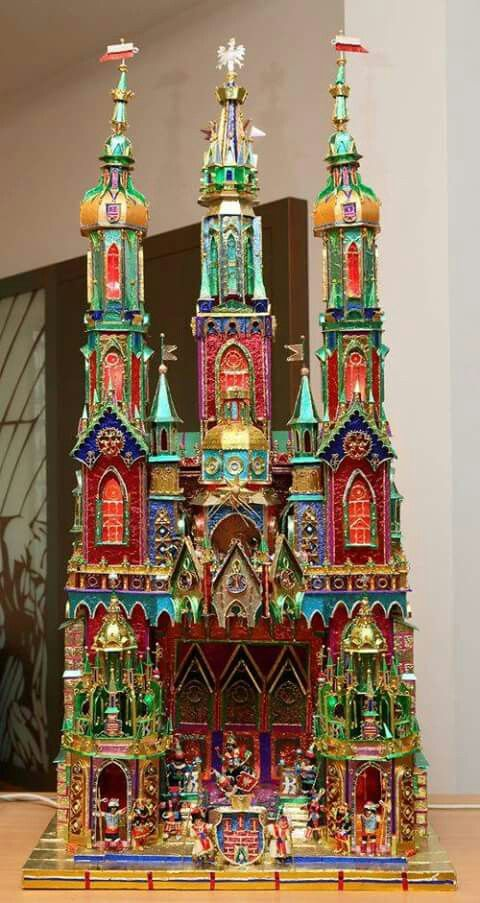 Incredible Gingerbread Houses, Handbuilt  Painted Holiday - polish christmas decorations