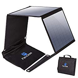 Paxcess Foldable 50w Solar Panel Charger For Suaoki Portable Generator 8mm Goal Zero Yeti 100 150 400 Power Station Battery Pack Usb Devices With 3 Usb Ports Solar Panel Charger Best Solar Panels Solar Panels