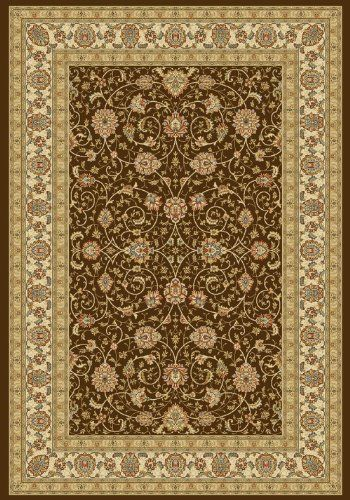 Area Rug Chocolateivory Traditional Bordered Stainresistant Carpet 9foot 2inch X 12foot 10inch You Can Find More Details By Vis Dynamic Rugs Area Rugs Rugs