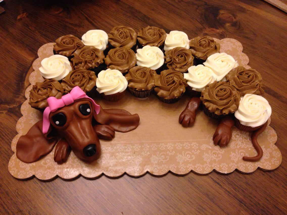 Dachshund Cupcake Cake Cookie Cake Decorations Dachshund Cake