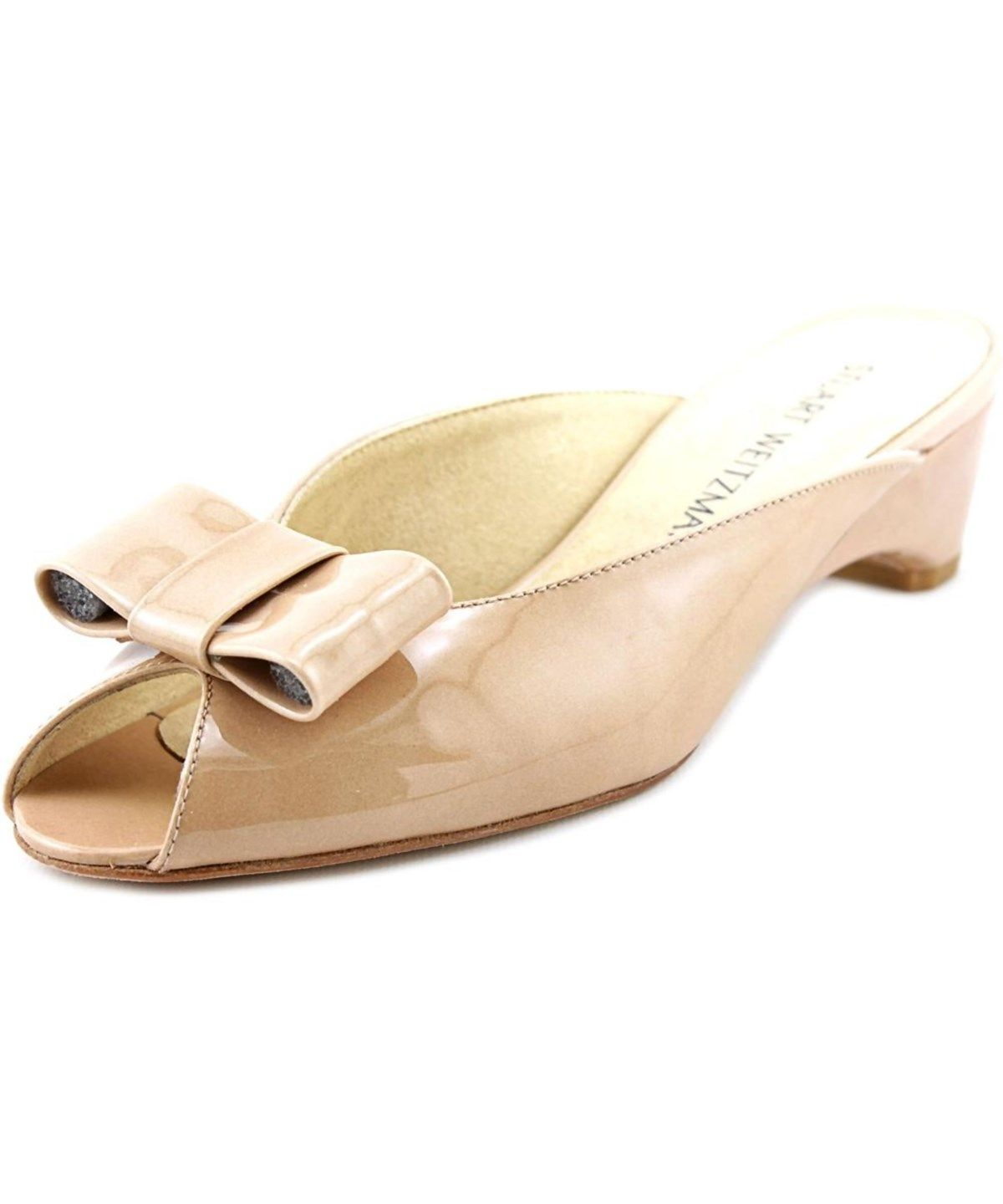 40086eb2a28 STUART WEITZMAN Stuart Weitzman Candy Women Open Toe Patent Leather Nude  Slides Sandal .  stuartweitzman  shoes  sandals