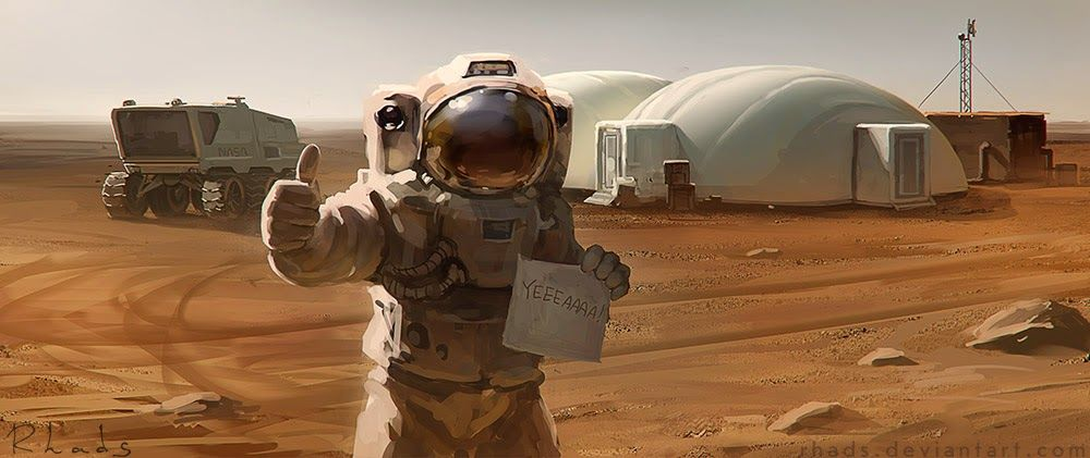 Andy Weir: The Martian | THE MARTIAN by RHADS | #book # ...