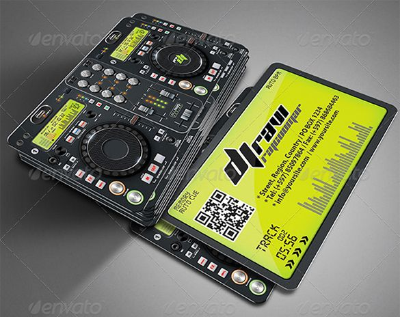 18 DJ Business Cards Free PSD EPS AI InDesign Word PDF Format Download