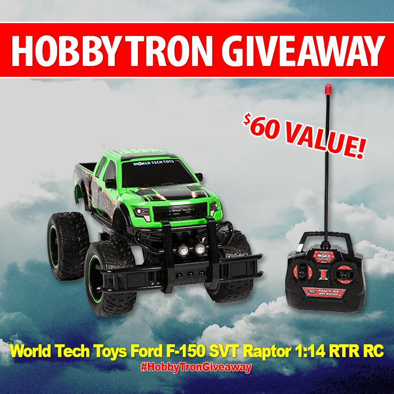 *REPIN TO WIN!* Today we're giving away our $60 VALUE World Tech Toys Ford F-150 SVT Raptor 1:14 RTR RC Monster Truck!   HOW TO WIN: 1. Follow HobbyTron 2. Like, Comment, & Tag 2 friends in the comments 3. REPOST with #HobbyTronGiveaway  For more chances to win, enter by following and sharing this post on Facebook, Instagram, Twitter, Google+, and Pinterest!  Good luck everyone!  #HobbyTron #Giveaway #RC #RCToys #Drone #RCDrone #Contest #MonsterTruck #WorldTechToys #Ford #Raptor
