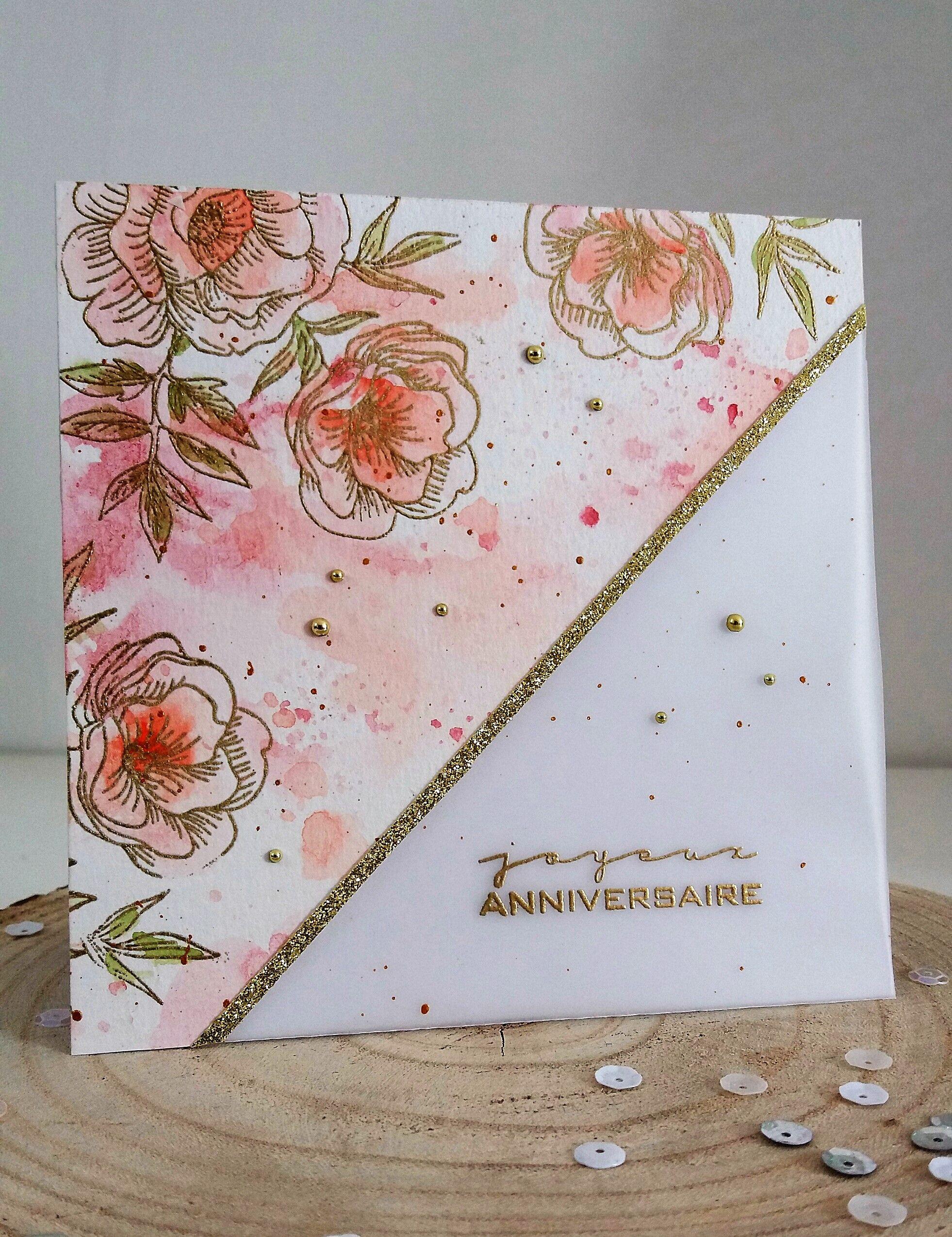 Carte Anniversaire Aquarelle Diy Carte Anniversaire Carte