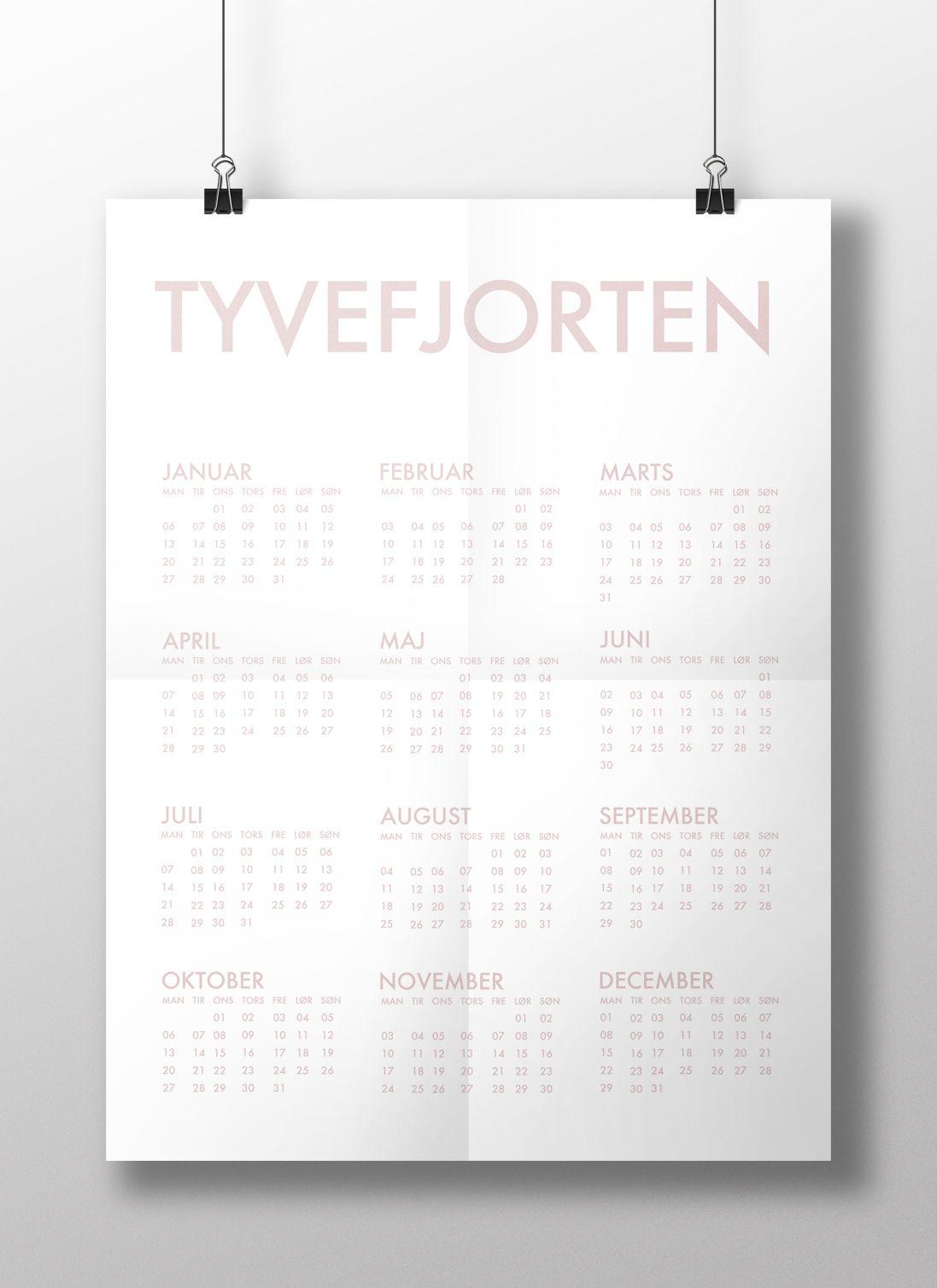 Jeg har lavet en kalender, en fiks lille simpel en af slagsen, der egentlig bare skal printes og eventuelt hænges op med en lækker maskingtape i yndlingsfarven. Hos mig bliver det den grå/blå versi...