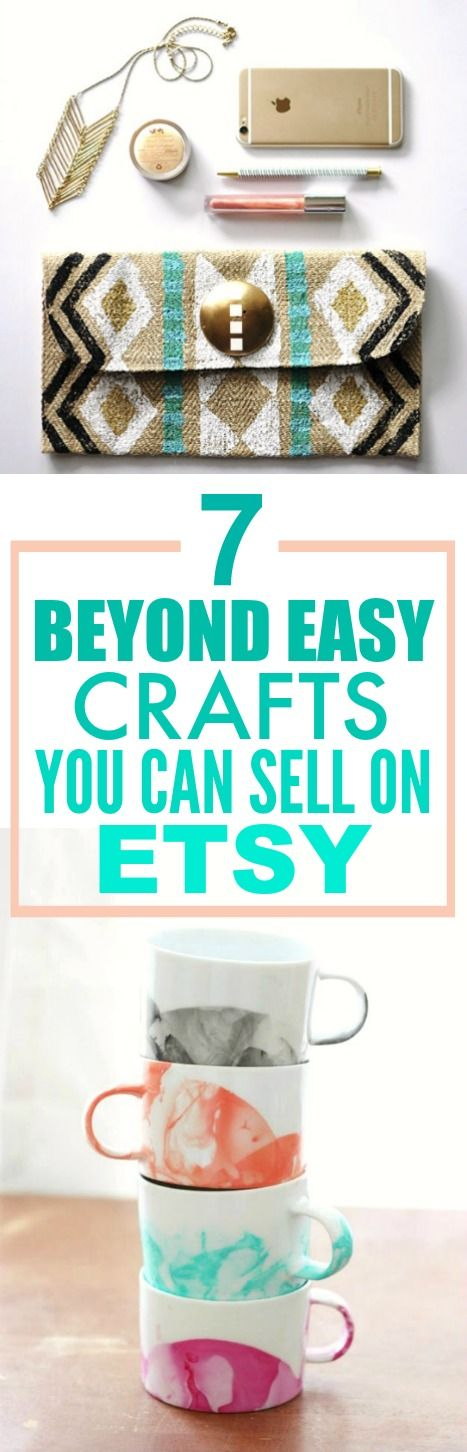 6 Beyond Easy Crafts You can Make and Sell Online #craftstomakeandsell