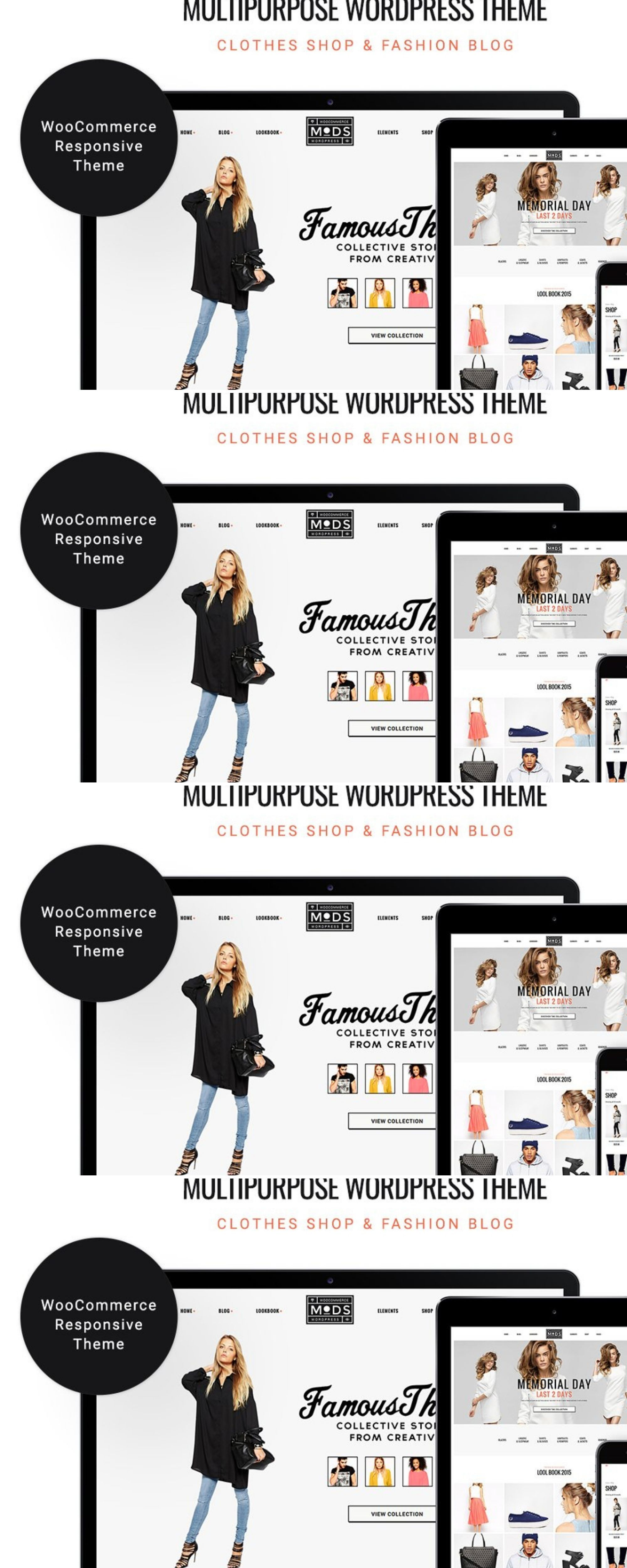 MODS - Shop & Fashion Blog WP Theme | UI Inspiration: Pink