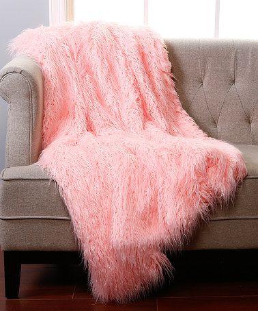 Pink Faux Fur Lounge Throw Zulily Faux Fur Throw Blanket Sheepskin Throw Pink Faux Fur