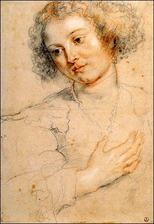 Peter Paul Rubens, Study for St. Apollonia  Florence, Uffizi