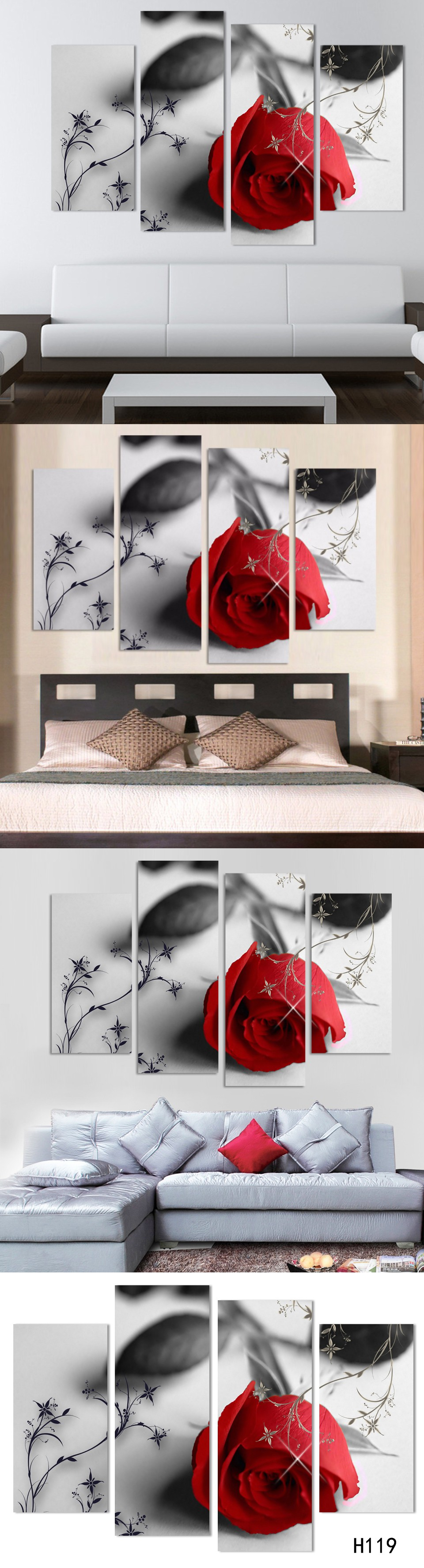 pcs hot sell modern home decoration for living room or bedroom red