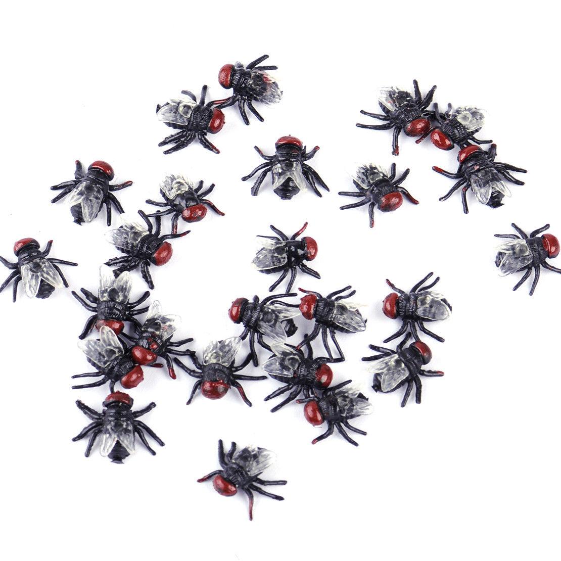 100X Joke Flies Bug Funny Prank Novelty Fake Toy Trick Party Horror ...