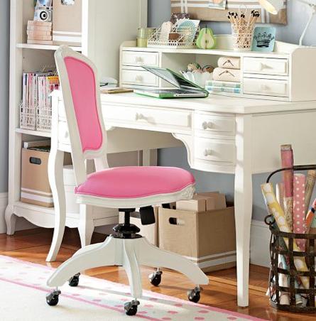 Lilac Desk Hutch Vintage Simply White