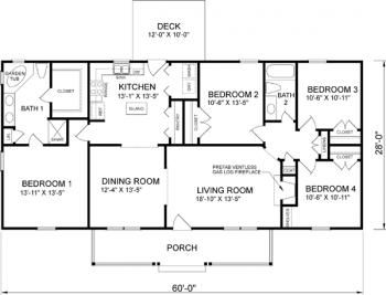 Simple House Plan Four Bedroom House Plans 4 Bedroom House Plans Bedroom House Plans