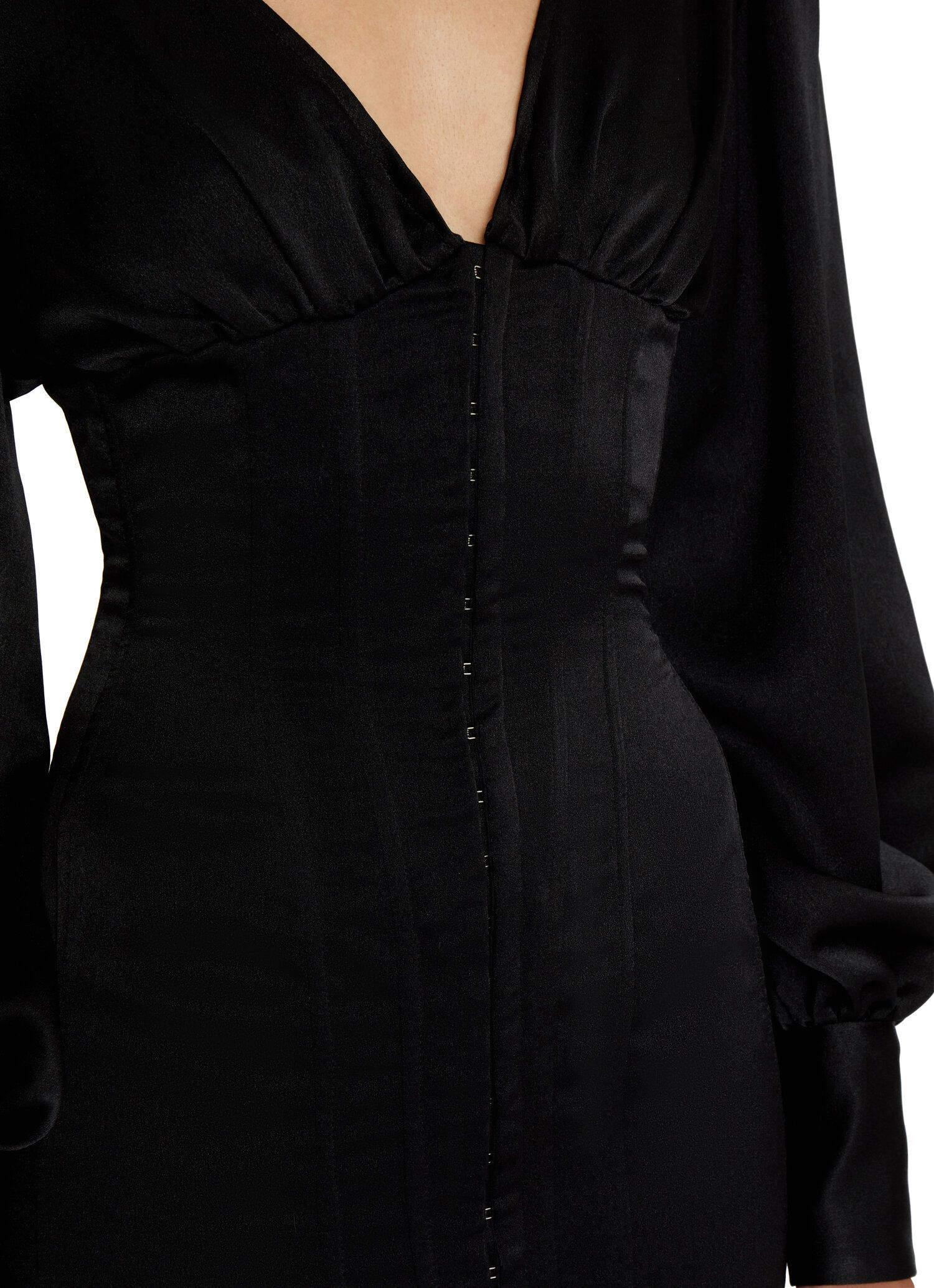 Long Sleeve Satin Corset Dress Danielle Guizio Satin Corset Dress Satin Corset Corset Dress [ 2069 x 1500 Pixel ]