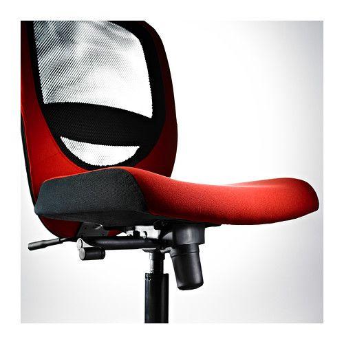 ikea vilgot swivel chair red  furniture home