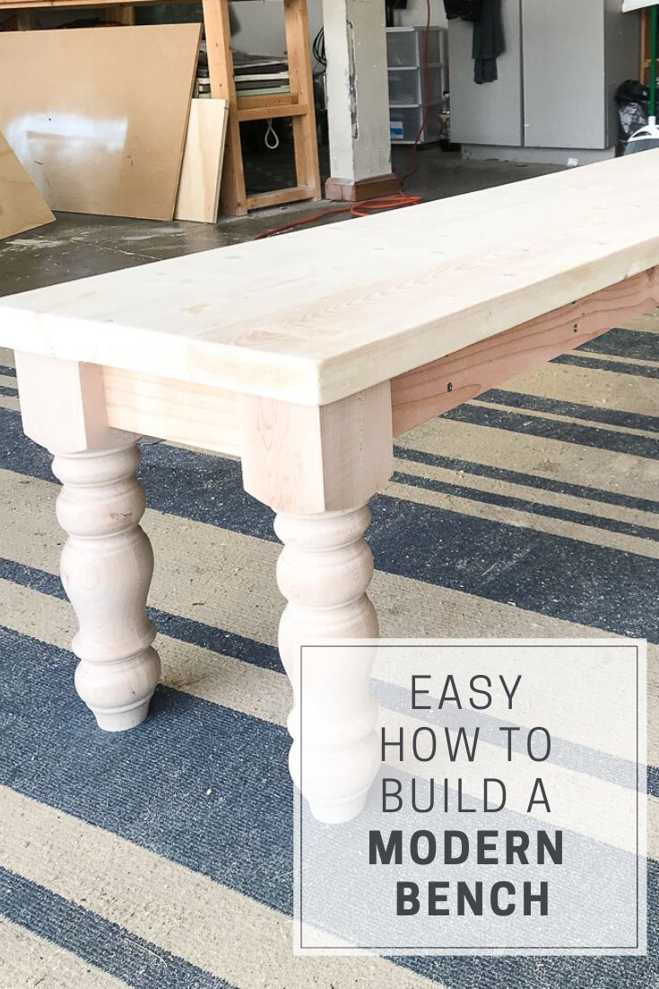 How to Build a Farmhouse Bench with Purchased Legs
