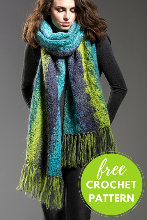 Behemoth Scarf Free Crochet Pattern | Schals, Kragen und Tücher