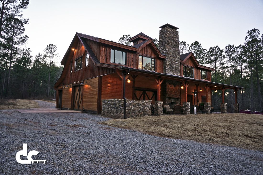 Check out this incredible custom barn home in newnan for Custom barn homes